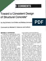 COMMNETS-Towards a Consistent Design of Structural Concrete