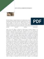 INTRODUCCIÓN AL DERECHO ROMANO