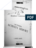 XXI Bomber Command, Monthy Activity Report 1 July 1945