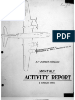 XXI Bomber Command, Monthy Activity Report 1 March 1945
