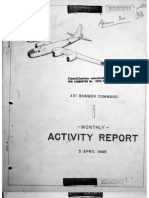 XXI Bomber Command, Monthy Activity Report 5 April 1945