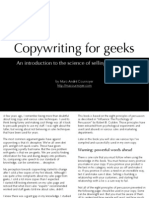 Copywriting for Geeks