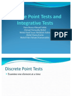 Discrete Point Tests and Integrative