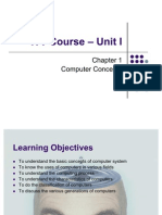 ITT Course – Unit I - Chapter 1 - Computer Concepts (50 Pages)