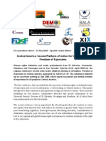 Central America Second Platform of Action for Strengthening Freedom of Expresion