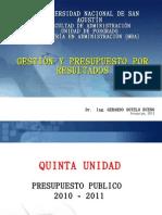 Diapositivas Maestria Admin is Trac Ion - QUINTA UNIDAD - Presu[1]