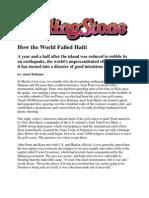 How the World Failed Haiti