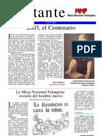 Militante nº 2- Mesa Nacional Falangista - Enero 2003