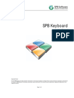 Spb Keyboard User Manual