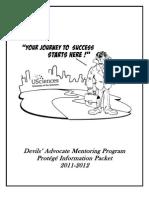 Protege Information Packet 2011-2012