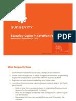 Open Innovation Forum - Sungevity