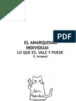 El Anarquismo Individual