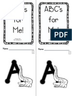 ABC's for Me  Book