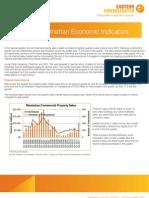 Manhattan Economic Indicators - Second Quarter 2011