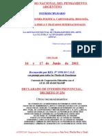 CIRCULAR 4º CONGRESO NACIONAL DEL PENSAMEINTO ARGENTINO