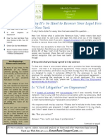 Law Offices of Jonathan Cooper August '11 Newsletter