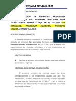 PROYECTO VIVIENDA  PREFABRICADA