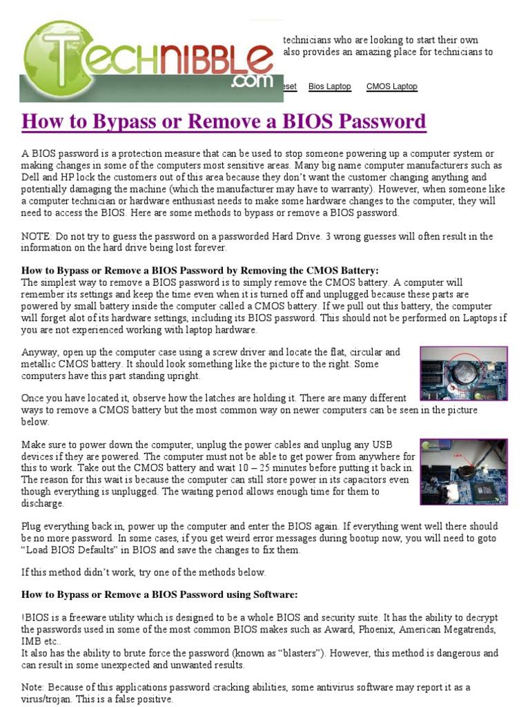 bios vaio password