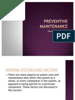 Preventive Maintenance 3
