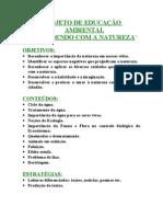 Projeto didático. Educação ambiental - 000