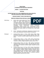 Peraturan Menteri an RI - NO 41M-InDPER62008