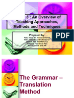 An Overview of Teaching Approach