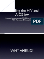 HIV and AIDS Amendment Bill