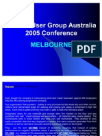 TRACC User Conference 2005 Report Draft