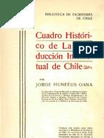 Cuadro histórico de la producción intelectual de Chile