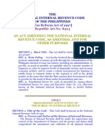 NIRC, Tax Reform Act - RA 8424