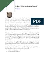 25 Faktor Penyebab Keterlambatan Proyek