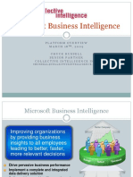 Microsoft Business Intelligence - Platform Overview