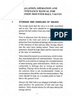 Pipeline Ball Valves Manual