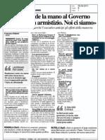 Casini Tende La Mano Al Governo Ci Vuole Un Armistizio Noi Ci Siamo - QN del 05.08.11