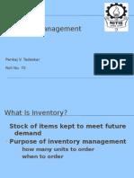 Inventory Management 21 Pankaj