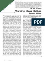 Raymond Williams-Working Class Culture 1957