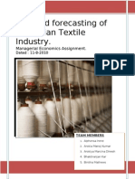 Demand Forecasting Indian Textile Industry