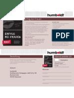 Flyer - Kolja Alexander Bonke - Erfolg Bei Frauen - Humboldt Verlag Dating Guide