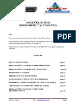 Guide Utilisateur Modem x3 Evolution