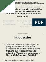 Estructura de un modelo matemático para el proceso