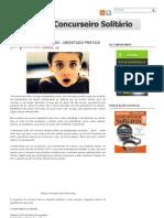 Blog do Concurseiro Solitário_ Planejamento de estudo - Um estudo prático EXCELENTE