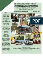 August 7, 2011 Bulletin