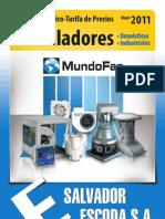 Catalogo Tarifa Ventiladores Mundofan Mayo2011