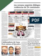 Hasta la próxima semana seguirán diálogos para definir presidencias de 24 comisiones