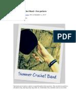 Summer Crochet Band