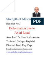 Strength of Materials- Deformation Due to Axial Load- Hani Aziz Ameen