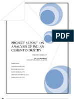 Analysis of Indian Cement Industry