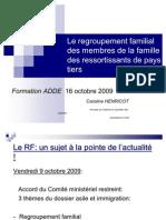 Le Regroupement Familial Ressortissants Pays Tiers Version Orale 2009-1
