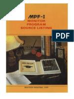 uPF1 Monitor Program Listing (Original Scan)
