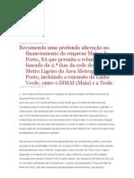 Projecto de Resolução sobre o Metro do Porto-PCP 5.8.11